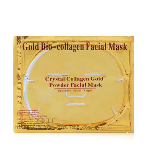 Image 5 - 10Pcs/Lot Skin Care Facial Mask Gold Collagen Black Mask Gold Crystal Collagen Powder Moisturizing Firming Oil Control Face Mask