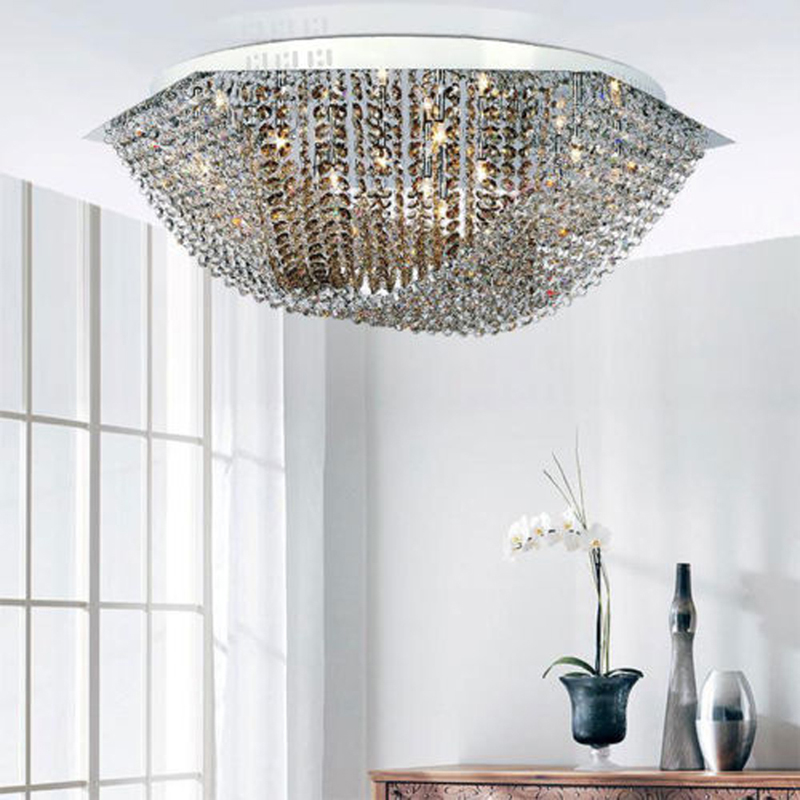 Modern Luxury Ceiling Chandelier Crystal Lamp Suspension Light Lighting Fixture for Dinn ...