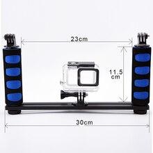 Universal de mano estabilizador grip soporte de brazo para gopro 4 3 + 3 xiaomi yi 4 k sjcam sj4000 sj5000 sj8000 h9 puerto de cámaras domo
