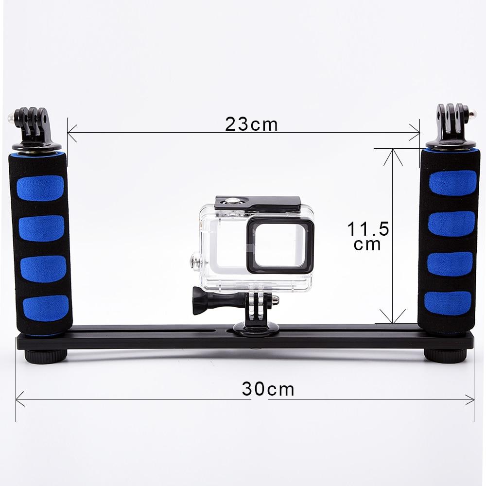 Universel de poche stabilisateur grip support de bras pour gopro 4 3 + 3 xiaomi yi 4 k sjcam sj4000 sj5000 sj8000 h9 dôme port caméras