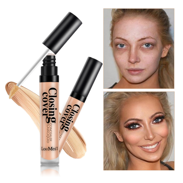 Loumesi Makeup Concealer Liquid concealer Perfect Cover Pores Dark Circles Oil-control Waterproof Liquid Concealer Face Primer 3