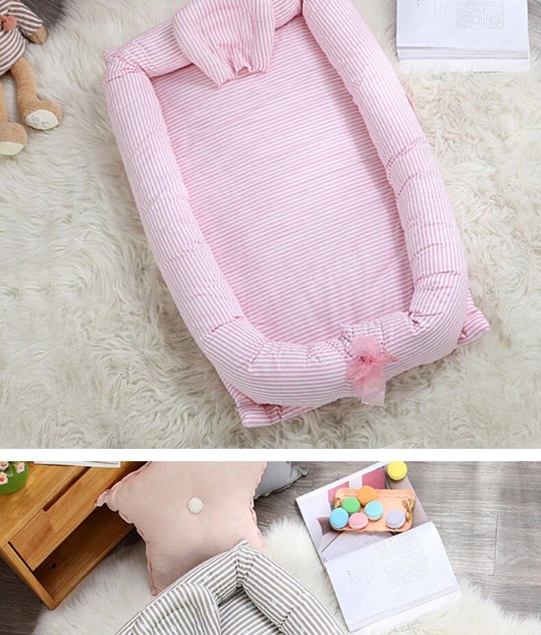 algodão infantil bebê ninho viagem cama dobrável