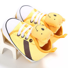 Cute Faces Canvas Baby Shoes Newborn Boys Girls First Walkers Infant Toddler Soft Bottom Anti-slip Prewalker Sneakers 0-12M cute baby loverly cartoon kids toddler stripe mouse first walkers cute boys and girls infant shoes soft sole unisex 0 12m
