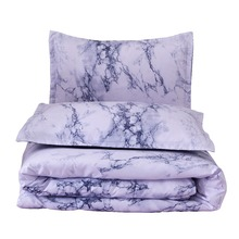 Queen Size Double Bed Marble Pattern Comforter Set 228*228cm Summer Pillowcase Bedding