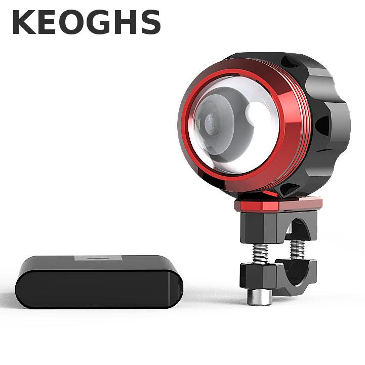 Keoghs Motorcycle Led Lens Spotlight/assistant Headlight High Quality Cnc Aluminum Waterproof For Bicycle Dirt Bike Scooter keoghs real adelin 260mm floating brake disc high quality for yamaha scooter cygnus modify