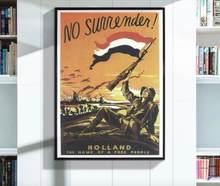 Holland a casa de um povo livre holandês ww2 wwii propaganda poster decorativo da parede do vintage lona adesivos posters decoração para casa gi