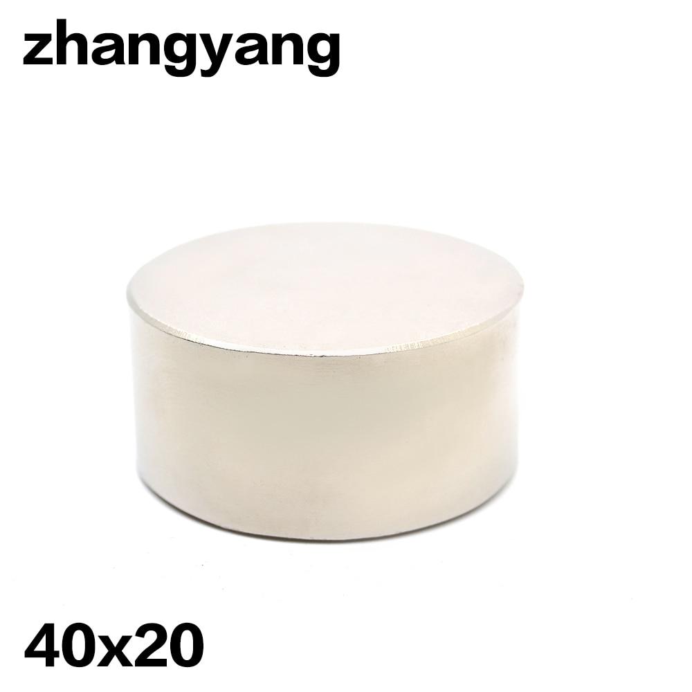 2 stücke super leistungsstarke Dia 40mm x 20mm neodym magnet 40x20 disc magnet rare earth NdFeB n42 magneten