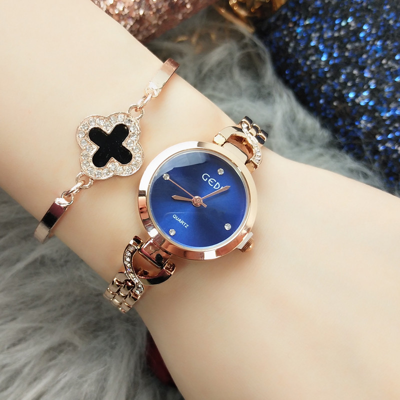 Wrist-Watch Watch-Movement Stainless-Steel Women Waterproof Ladies Round Glass With Japanese