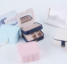 Joyero portátil para mujer, caja de almacenamiento de viaje, organizador, estuche de maquillaje, caja de exhibición de joyería