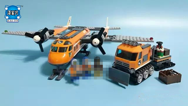 Arctic Supply Plane Model Building Kits Compatible with Lepins City 3D Blocks Educational Figures Toys for Children decool 3354 motorcycle harley vehicle model building kits compatible with legoe city 3d blocks educational toys for boy children