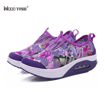 WOODTREE Microfiber 2018 New Spring Men Mesh Sneakers Shoes Sporty Walking Shoe Light Comfortable Lace Up Mens Casual Shoes