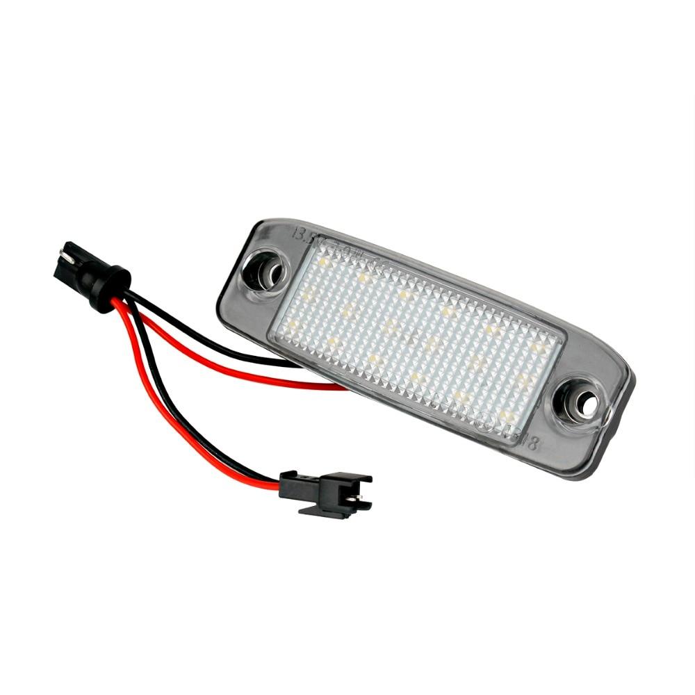 HengChiLun 2X White Car LED License Plate Light Lamp For Hyundai Number Plate Light Truck Trailer Lamp Car Tail Light Assembly