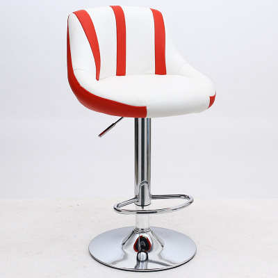 High Quality Lifting Swivel Bar Counter Chair Rotating Adjustable Height Pub Stool Chair Stainless Steel Stent Cadeira 16 Colors