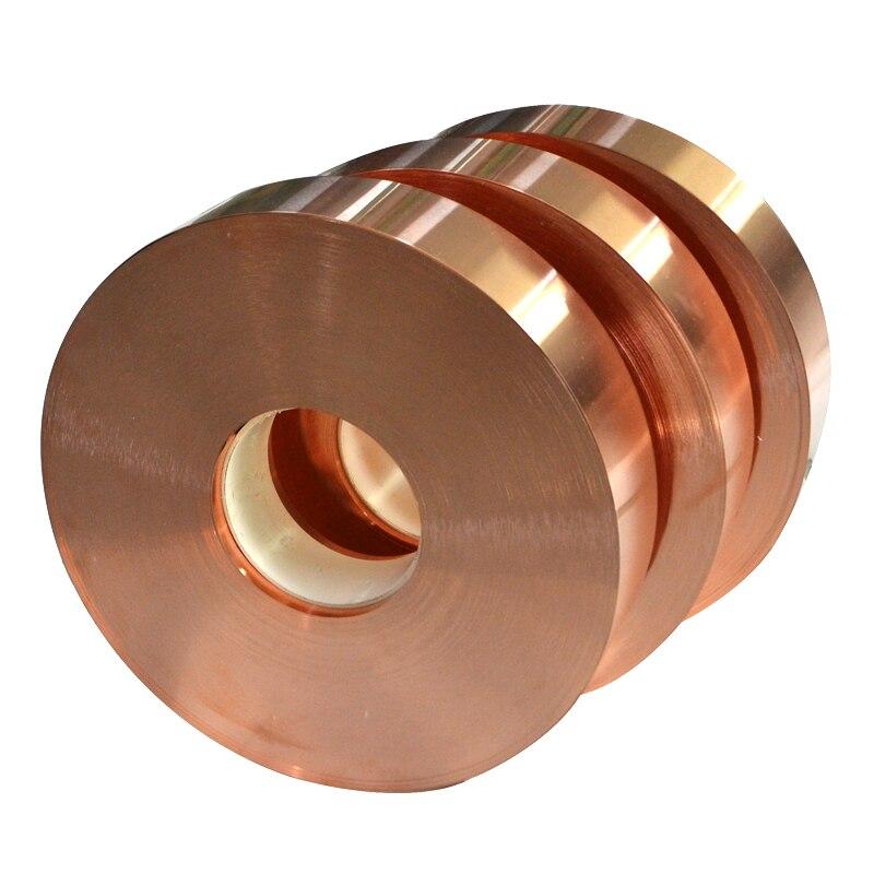 5m/lot Thicness: 0.1mm 0.2mm 0.3mm 0.5mm Pure T2 Copper Cu Belt Copper Strap Copper Strip Width: 10mm 20mm 30m 40mm 50mm 100mm
