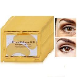 Золотая с кристаллами коллагена маска для глаз патчи для глаз компрессы для век для ухода за глазами против морщин маска для глаз гелевая на...