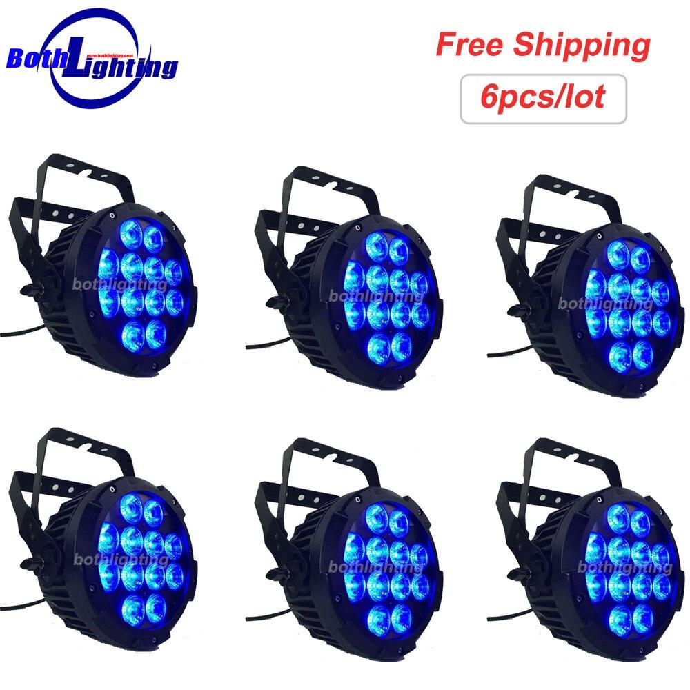 La puissance élevée 12x12 w IP65 LED étanche plat mince peut Par RGBAW-UV 6IN1 LED éclairage de lavage d'étape pour épouser
