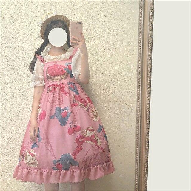 3158b88bd28b Princess sweet lolita dress Original summer girlhood fashion and sweet soft  sister young girl everyday Sling