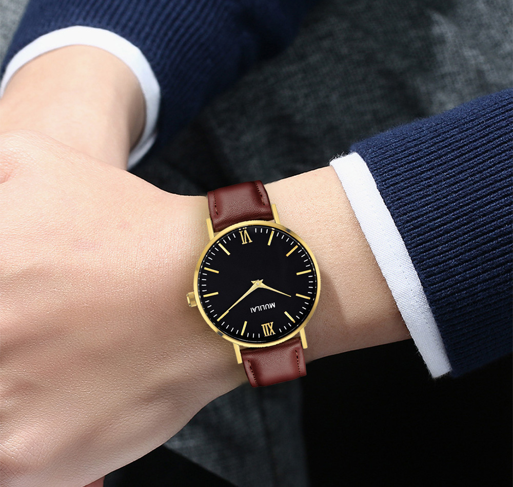 2018 Mens Watches dw style Luxury Brand Quartz Watch Casual Leather Sports Wristwatch Montre Homme Male Clock Relogio Masculino mens stainless steel band watch with big round dial male analog quartz metal sports wristwatch relogio masculino montre homme