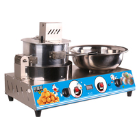 Full Automatic Commercial Both Electric Popcorn Maker and Cotton Candy Integrated Machine Non Stick Pot Fancy Dual Use Machine