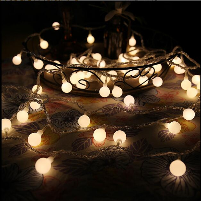 7.5M 50 LEDs 110V 220V IP44 Outdoor Multicolor LED String Lights Christmas Lights Holida ...