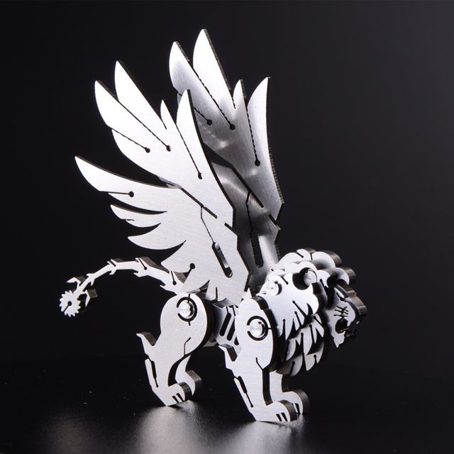 3D stainless steel metal model Manticore creative crafts decoration interior decoration adult collectibles holiday gift toys