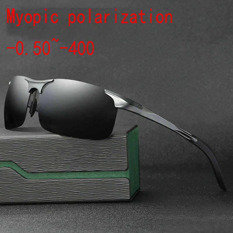 7eb94c7fcc Aluminum magnesium Myopia Minus Prescription Polarized Lens Fashion box  sports polarized sunglasses male Colorful Mirror FML