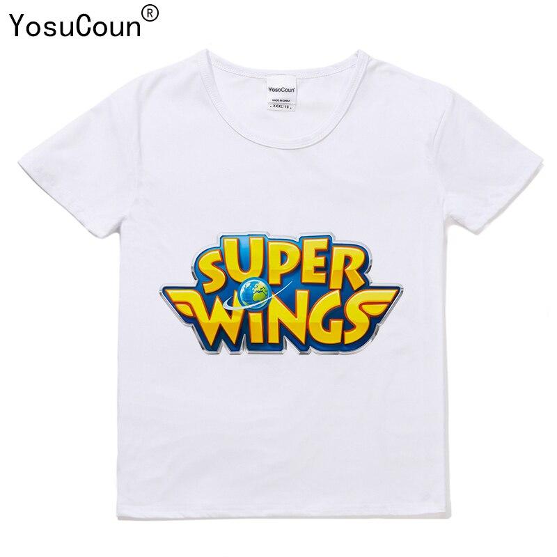 Super Ailes t-shirt Garçons T-shirts Bande Dessinée Enfants Garçon T-shirt Pour Enfants Tops Fille t-shirt Pour Les Filles Kid Garçons Chemise Super Ailes T135X