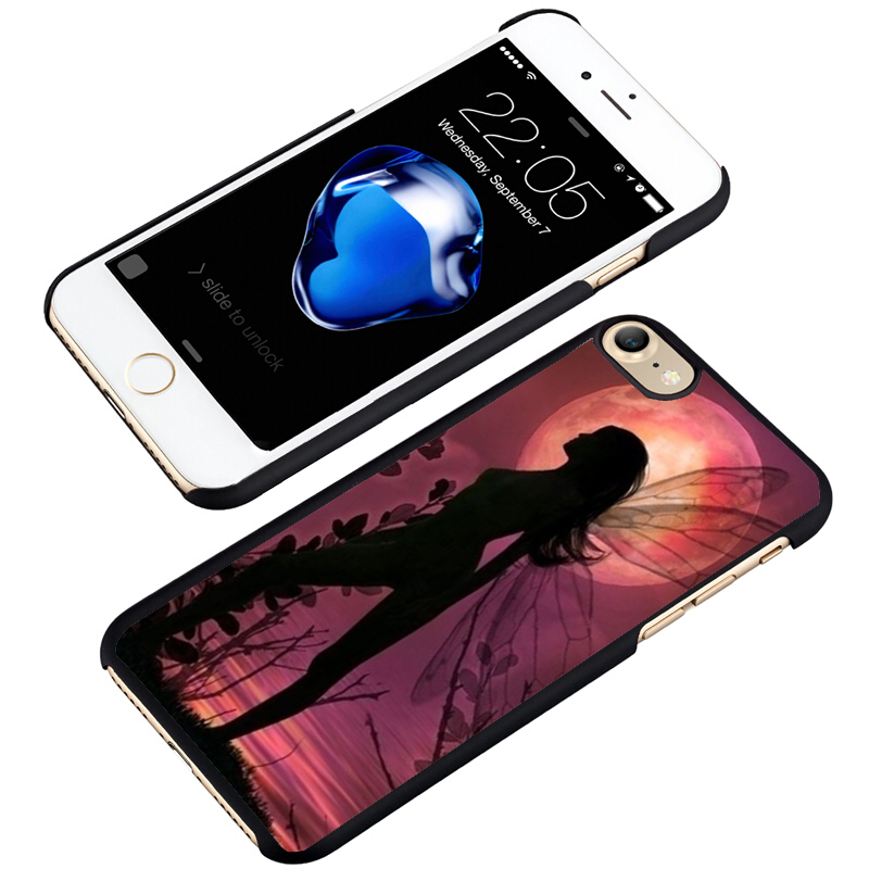 LvheCn phone case cover fit for iPhone 4 4s 5 5s 5c SE 6 6s 7 8 plus X ipod touch 4 5 6 Fairy Pixie Fairytale Magical