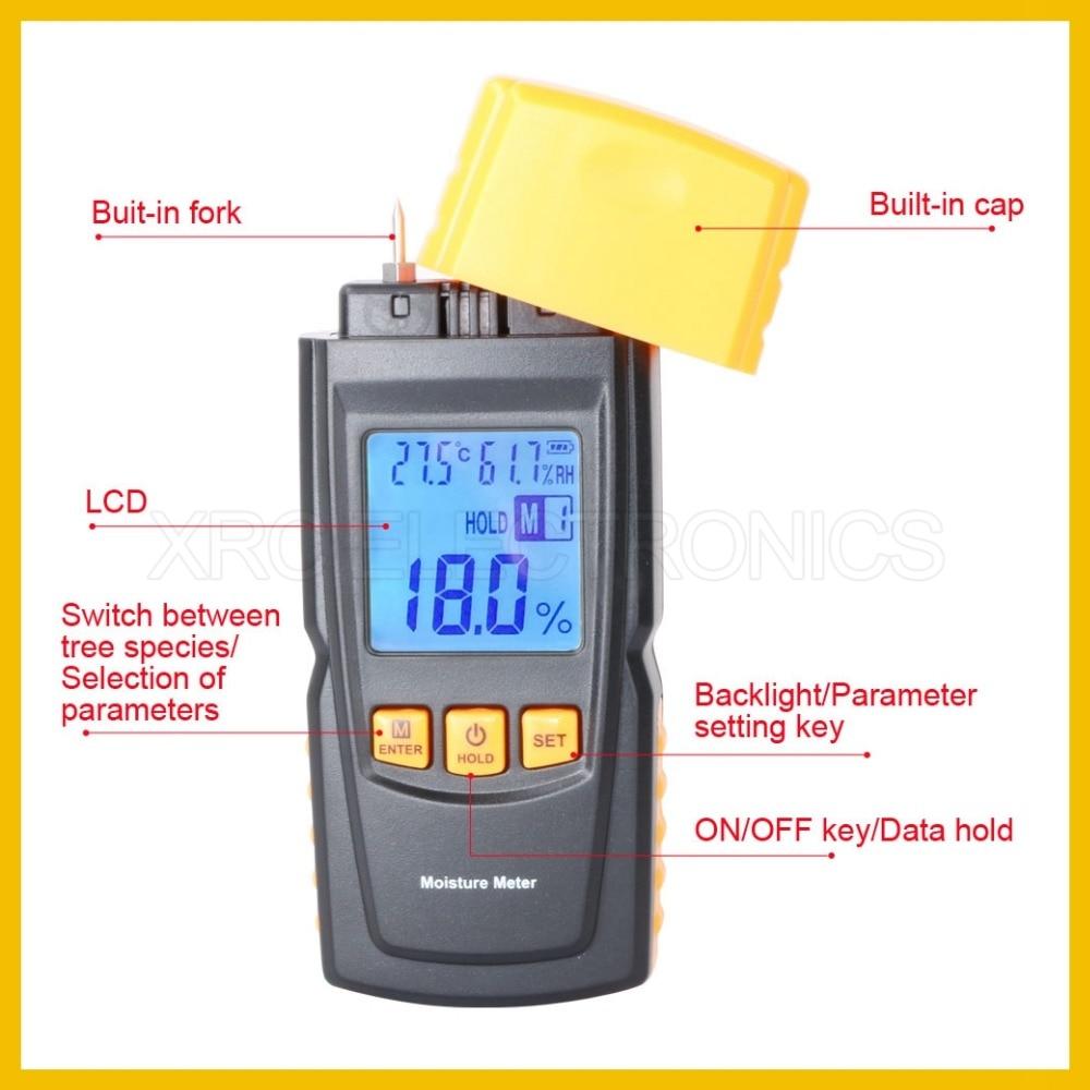 Misuratore di umidità per legno portatile RZ con design raffinato - Strumenti di misura - Fotografia 3
