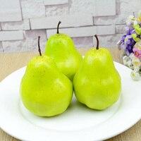 050 Heavier imitation fake snow pear fake green pear fruit model 11*8cm