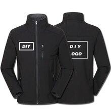 Logo personnalisé imprimé hommes automne chaud vestes adultes imperméable coupe vent manteau fermeture à glissière Softshell degison vêtements dextérieur livraison directe