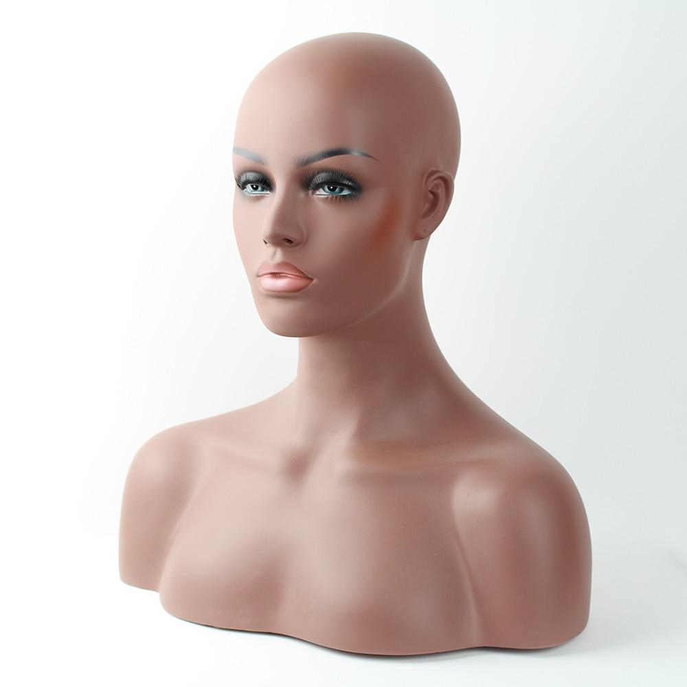 Busto de cabeza de maniquí balck de fibra de vidrio realista para - Artes, artesanía y costura - foto 4