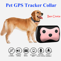 2016 New Waterproof IP65 Mini Pets GPS Tracker With Collar Rastreador For Pets Dogs Tracking Localizador