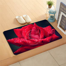 W530L7 Benutzerdefinierte Rote Rosen Blume Aquarell Fußmatte Home Decor Tür matte Boden Badematte fußmatten pad # F7