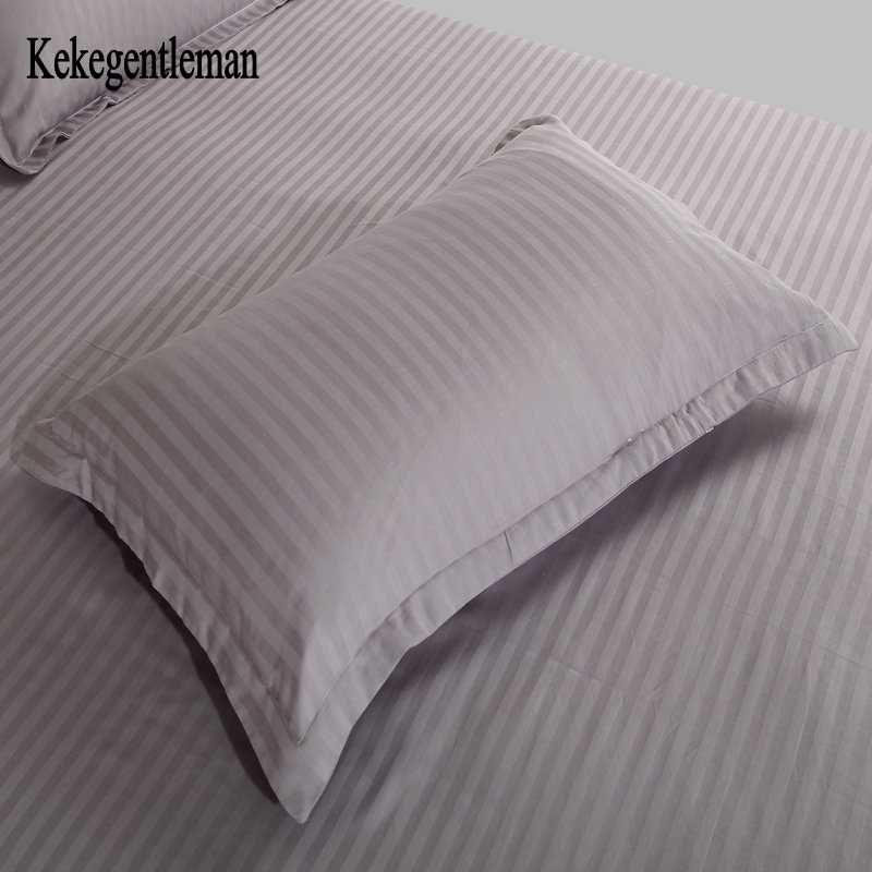 Kekegentleman 2 pcs/lot 48*74cm pillow case, 100% cotton stripe pillow cover, pillowcase in solid color
