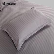Kekegentleman 2 unids/lote 48*74 cm funda de almohada, 100% algodón de la raya funda de almohada, funda de almohada de color sólido