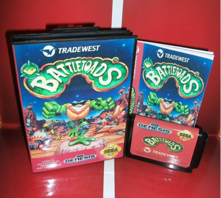 Sega games card - Battletoads with Box and Manual for Sega MegaDrive Video Game Console 16 bit MD card