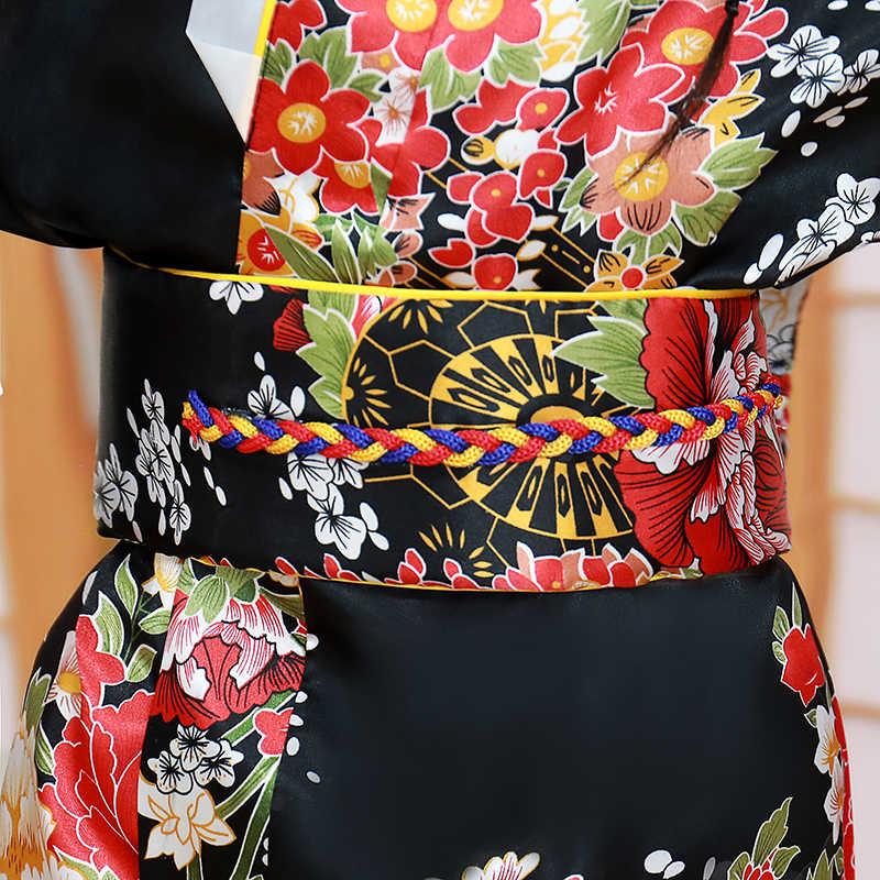 الطفل الجدة تأثيري فستان Floaral اليابانية طفلة الطباعة كيمونو فستان الأطفال خمر يوكاتا طفلة أزياء رقص