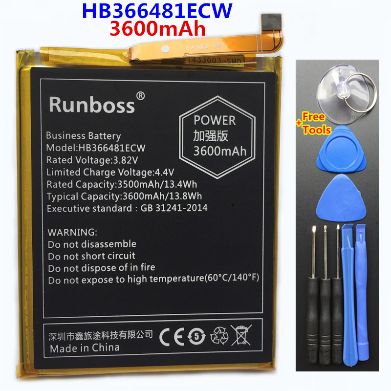 3600mAh HB366481ECW Replacement Phone <font><b>Battery</b></font> For <font><b>Huawei</b></font> P9 <font><b>P10</b></font> Lite Honor 8 9 Lite 9i 5C 7C 7A Enjoy 7S 8 8E Nova Lite 3E GT3 image
