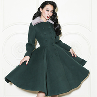 Le Palais Vintage 2017 New Arrival Elegant High Quality Women S Coats Double Breasted Slim Large