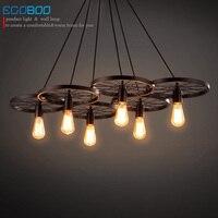 ECOBRT Industrial Vintage Pendant Lamp Loft Retro Lamp Copper Lamp Holder For Bar And Restaurant 110V