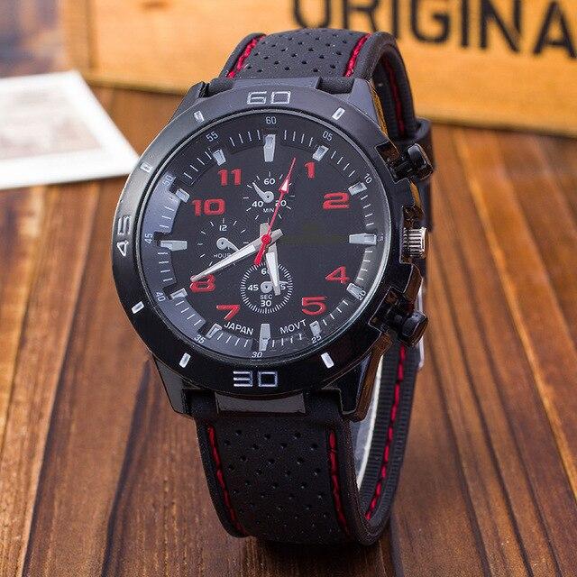 Outdoor Casual Watch Men Sport Watches Luxury Brand Silicone Quartz Wristwatch Men Military Watch Relogio Masculino Reloj Hombre
