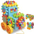 Creative car style gear 92 small pieces combined building block box kids toy