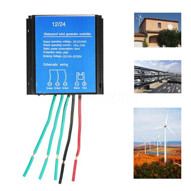 12V/24V Waterproof IP67 Wind Battery Charge Controller Regulator for