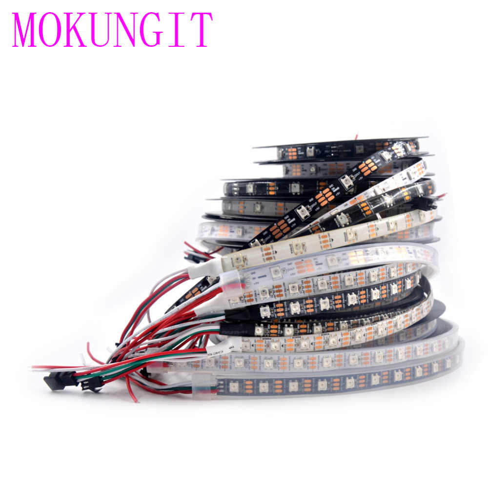 1 M/5 M WS2812B SK6812 30/60/74/96/144 Pixels/m 2811ic Built-In 5050RGB secara Individual Addressable LED RGB Strip IP30/IP65/IP67 DC5V
