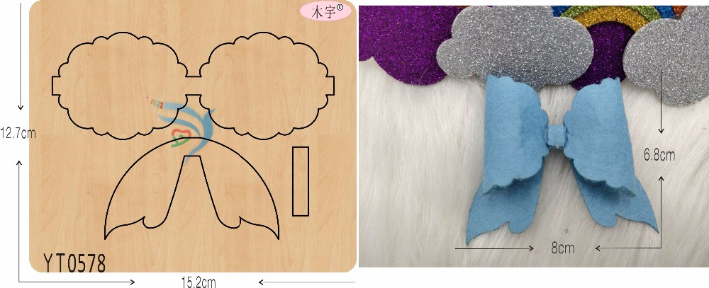 Blue Lace Bow DIY new wooden mould cutting dies for scrapbooking Thickness 15 8mm YT0578