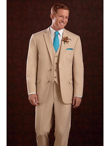 2017 Latest Coat Pant Designs Champagne Khaki Men Wedding Suits Slim Fit 3 Piece Suit Groom Tuxedo Custom Prom Blazer Masculino