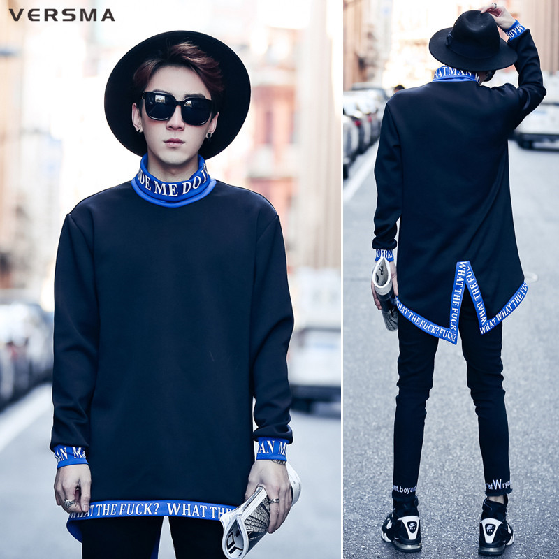 VERSMA 2017 Korean Harajuku Letter Printed Geek Hoodies Sweatshirts Men Spring Autumn Hi ...