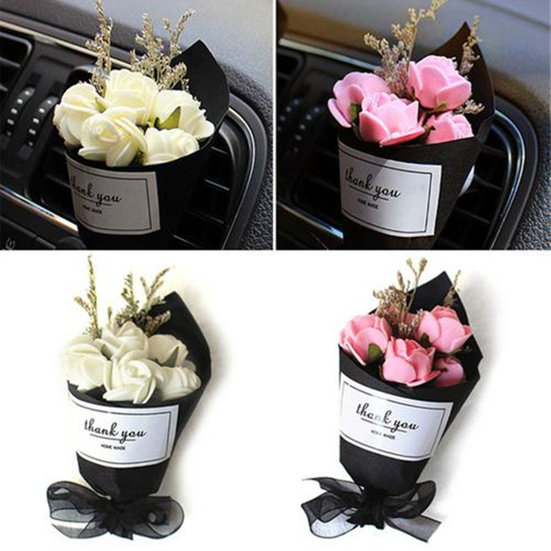 New Style Car Interior Creative Eternal Flower Air Conditioning Outlet Fragrance Perfume Air Freshener Lovely Ornaments