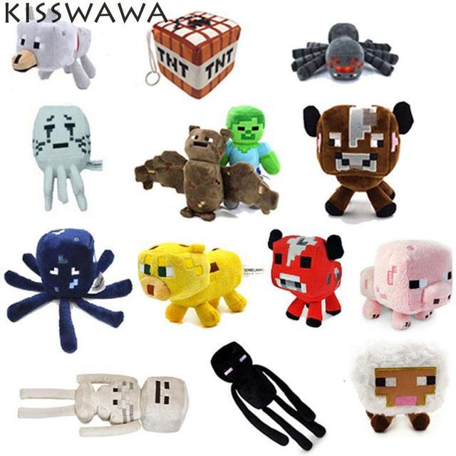 KISSWAWA 2017 Minecraft Плюшевые Игрушки 16-26 СМ Плюшевые Мягкие Игрушки Животных Brinquedos minecraft Мультфильм Игры игрушки для дети